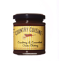 Cranberry & Caramelised Onion Chutney - 195g Just the ticket with cold meats and cheese.